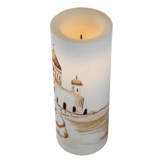 Two wiseman flameless candle