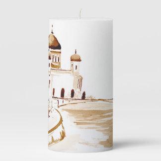 Two wiseman pillar candle