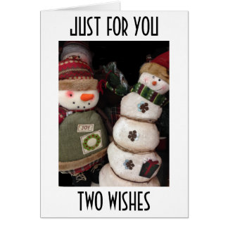 TWO WISHES=HAPPY BIRTHDAY/MERRY CHRISTMAS CARD
