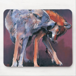 Two Wolves 2001 Mouse Pad
