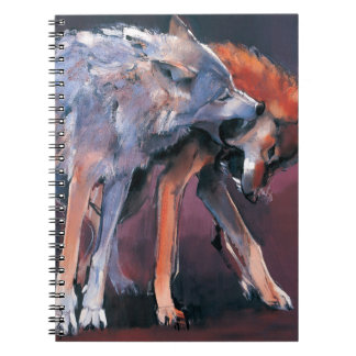 Two Wolves 2001 Notebook