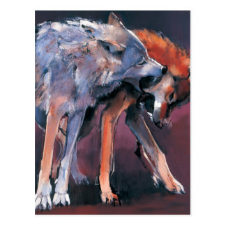 Two Wolves 2001 Postcard
