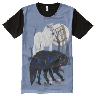 Two Wolves All-Over-Print Shirt
