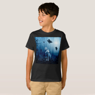 Two wolves - white wolf - wild animals T-Shirt