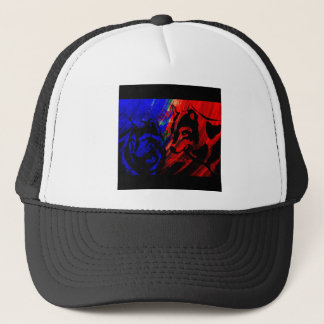 Two Wolves Wolf Original by Lance Brown Eyes Trucker Hat