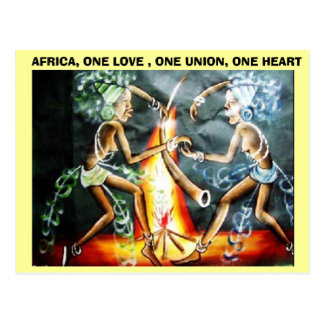 two woman dancer,  AFRICA, ONE LOVE , ONE UNION... Postcard