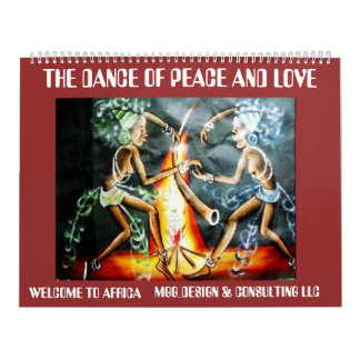 two woman dancer, THE DANCE OF PEACE AND LOVE, ... Wall Calendars