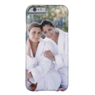 Two woman wearing bath robes barely there iPhone 6 case