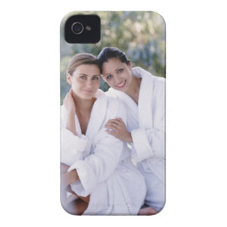 Two woman wearing bath robes iPhone 4 cover