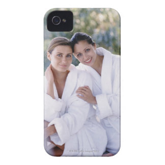 Two woman wearing bath robes Case-Mate iPhone 4 case