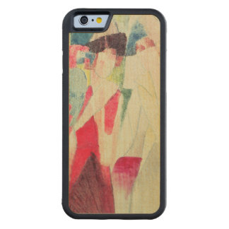 Two Women and a Man with Parrots, 20th century Carved Maple iPhone 6 Bumper Case