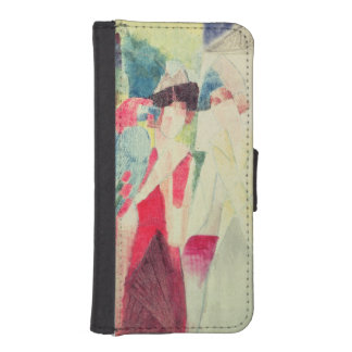 Two Women and a Man with Parrots, 20th century iPhone SE/5/5s Wallet
