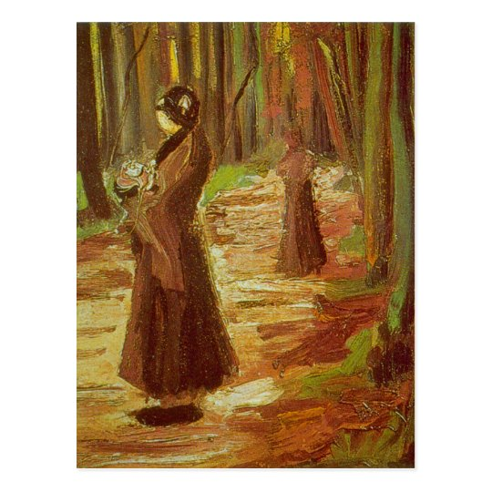 Two Women by Vincent van Gogh Postcard