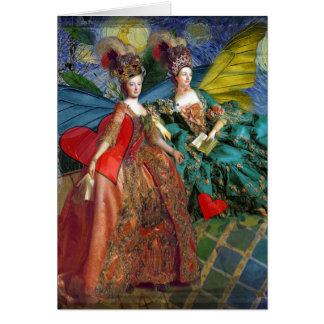 Two Women Classic Art Card