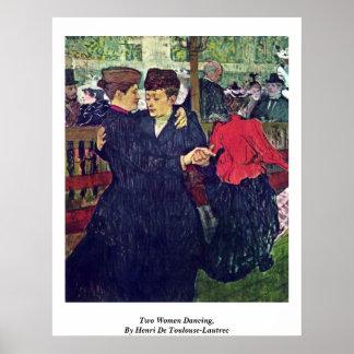 Two Women Dancing, By Henri De Toulouse-Lautrec Poster