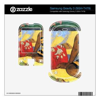 Two Women From Tahiti by Eugène Henri Paul Gauguin Samsung Gravity 3 Decals