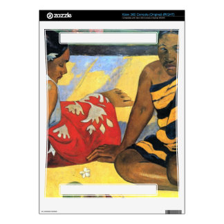 Two Women From Tahiti by Eugène Henri Paul Gauguin Skin For The Xbox 360