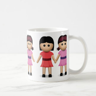 Two Women Holding Hands Emoji Coffee Mug