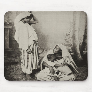 Two women in Tangier, Morocco, 1898 Mousepad