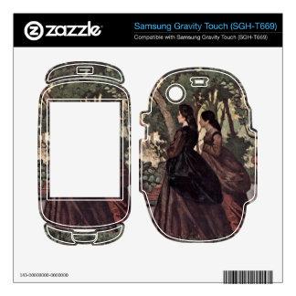 Two Women in the Garden by Giovanni Fattori Samsung Gravity Touch Skins