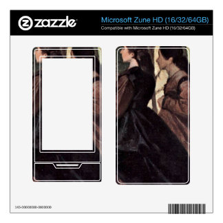 Two Women in the Garden by Giovanni Fattori Decal For Zune HD