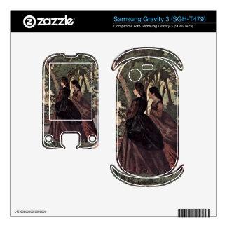 Two Women in the Garden by Giovanni Fattori Samsung Gravity 3 Skins