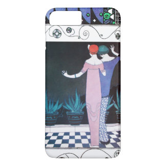 TWO WOMEN IN THE NIGHT Art Deco Beauty Fashion iPhone 8 Plus/7 Plus Case