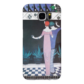 TWO WOMEN IN THE NIGHT Art Deco Beauty Fashion Samsung Galaxy S6 Cases