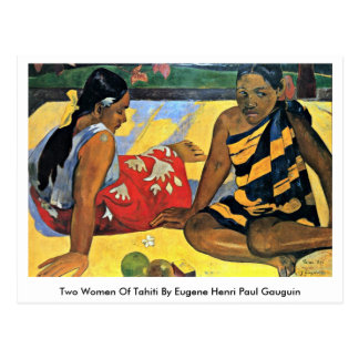 Two Women Of Tahiti By Eugene Henri Paul Gauguin Postcard