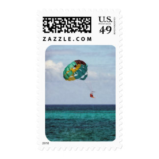 Two Women Parasailing in the Bahamas Postage Stamp
