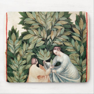 Two women picking sage, from 'Tacuinum Mouse Pad