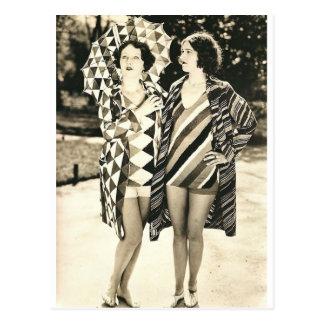 Two women postcard