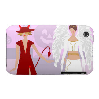 Two women wearing costumes iPhone 3 cases