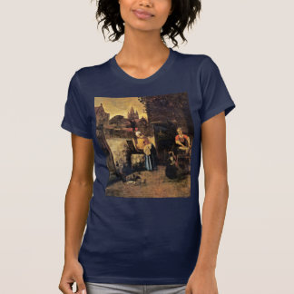 Two Women With A Child In The Yard By Pieter De Ho Tshirts