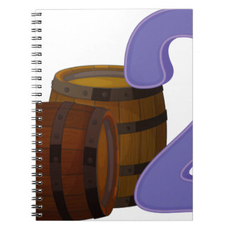 Two wooden barrels notebook