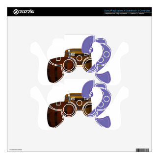 Two wooden barrels PS3 controller decal