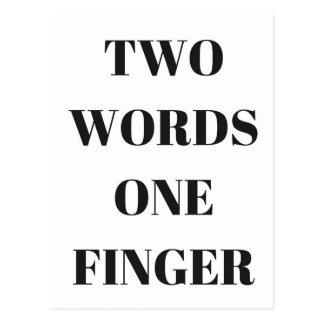 Two Finger Postcards