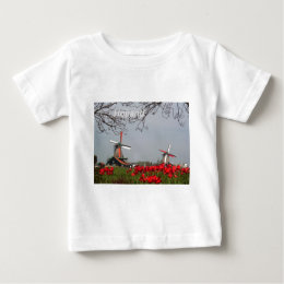 Two-working-windmills-at-Zaanse-Schans-Holland-Ang Baby T-Shirt