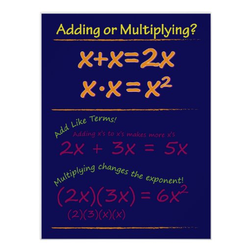 Two x or x-squared? posters