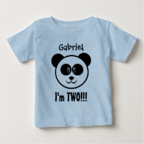 Two Year 2nd Birthday with Panda V03C Baby T-Shirt
