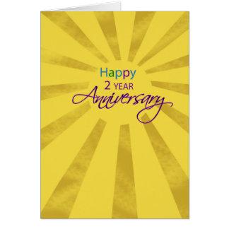 Two Year Employee Business Anniversary Sun Card