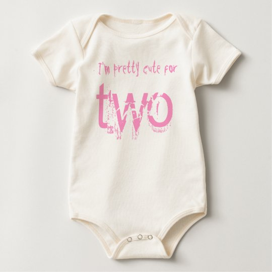Two Year Old 2nd Birthday Gift V008 Baby Bodysuit