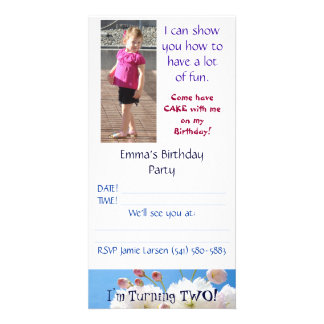 Two Year Old Birthday Party Invitations Customize
