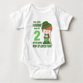 two year old fisherman t-shirt