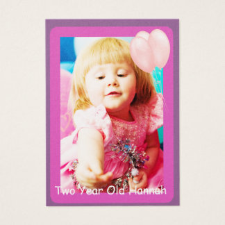 Two Year Old  Girls Birthday Photo Cards