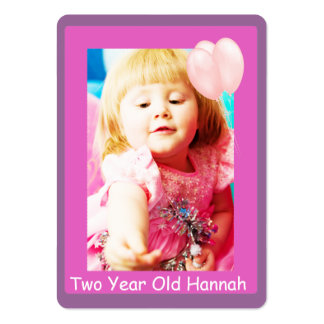 Two Year Old Girls Birthday Photo Cards Business Card