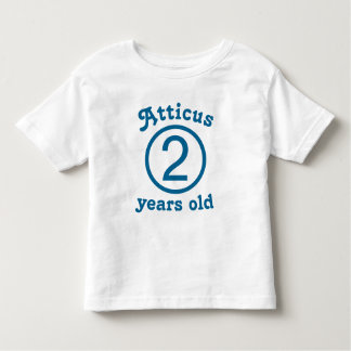 Two Years Old Personalized Blue Toddler T-shirt