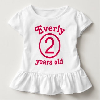 Two Years Old Personalized Pink Toddler T-shirt