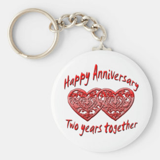 Two Years Together Keychain