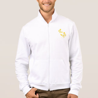 Two Yellow Butterflies Mens Jacket